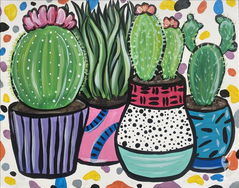 Funky Retro Cacti - VIRTUAL LIVE EVENT.
