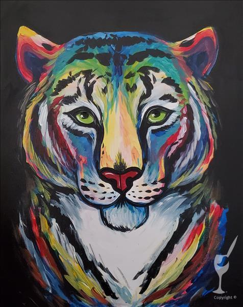 New Art Alert! Colorful Tiger.