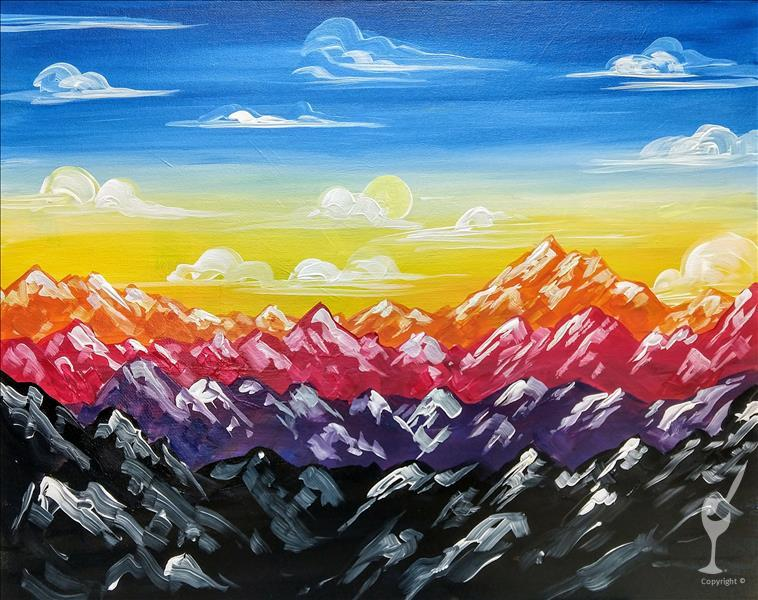 How to Paint Rainbow Mountain Ranges  **ALL AGES**