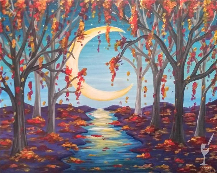 How to Paint Fall Moonlight