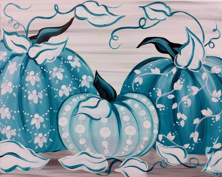 In Studio - Boho Blue Pumpkins (13+)
