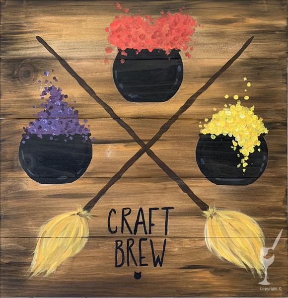 Craft Brew- Canvas or Real Wood Board