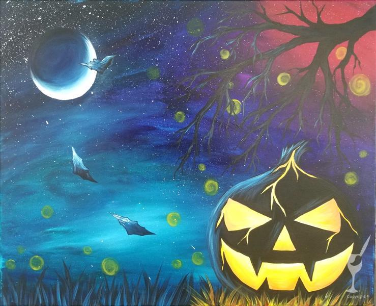 How to Paint HALLOWEEN ZOOM 10/31/20 @ 12PM ~ At Home Pickup