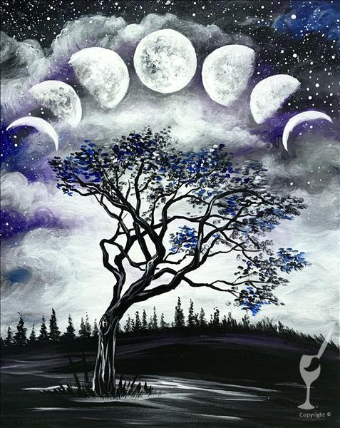 Happy Hour Painting Party- Lunar Phases