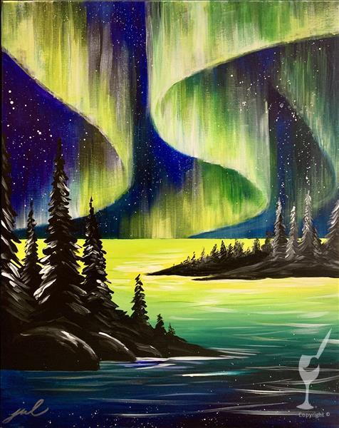 *Double Paint Points* Bright Northern Lights
