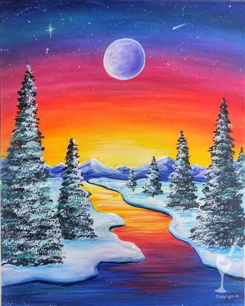 Vivid Winter Moonlight