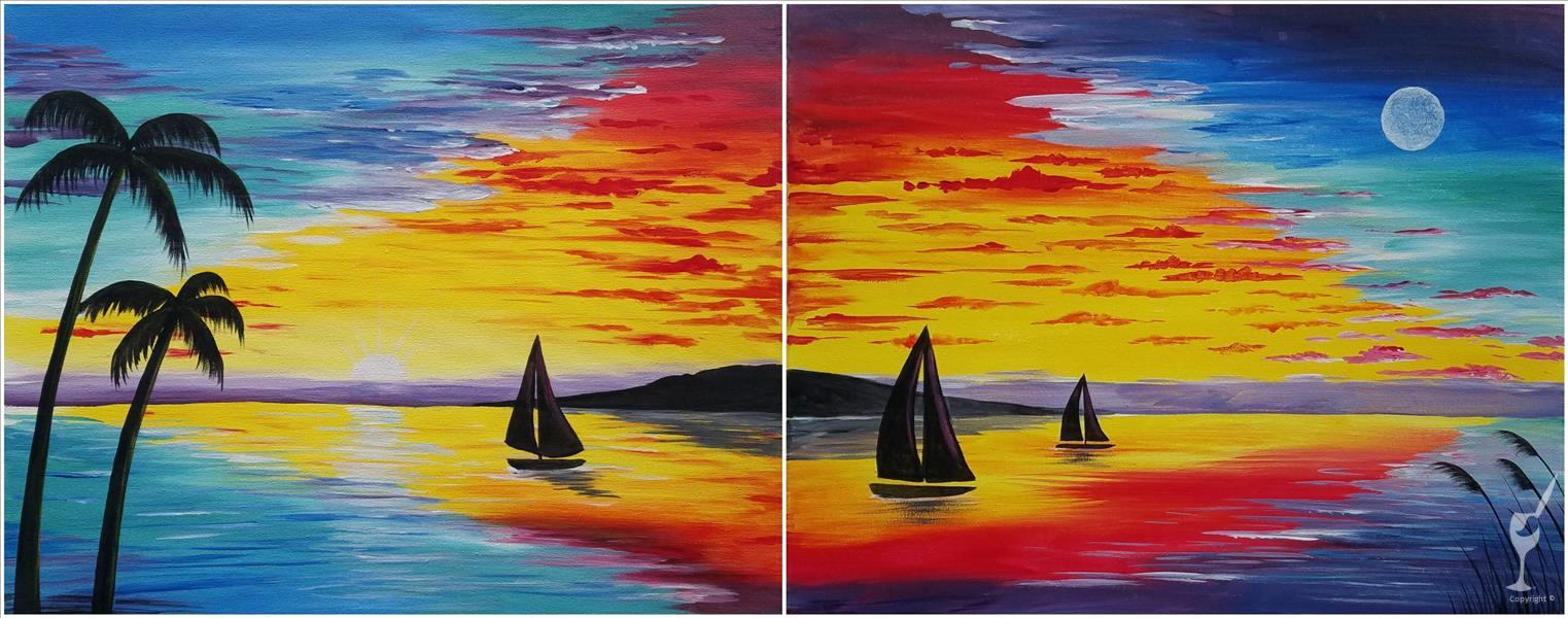 Dusk To Dawn Sail Set! Couples or Single Versions.