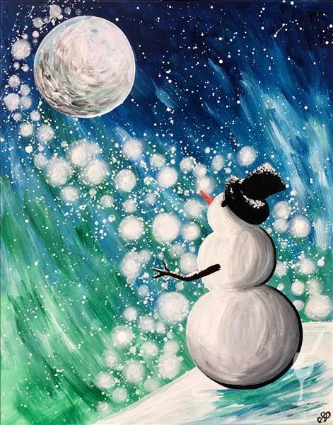 Winter Glow Snowman~WITH FAIRY LIGHTS