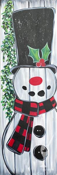 Holly Jolly Frosty- Porch Leaner Option In-Studio