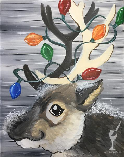 How to Paint Tangled Reindeer