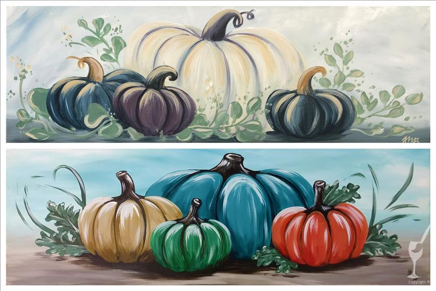 Colorful Pumpkins & Eucalyptus *Your choice!