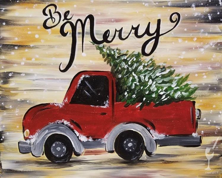 NEW ART!  Rustic Truck: Christmas - Adults Only