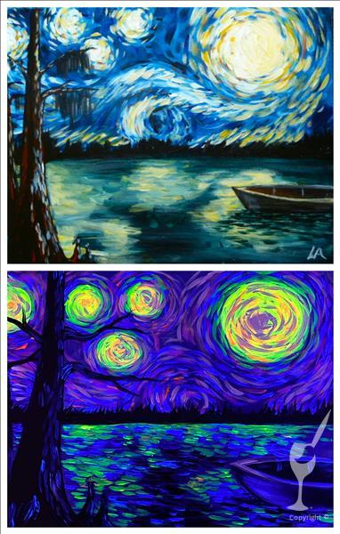 Starry Night at the Lake Blacklight Class