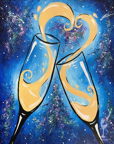 Star Crossed Clink--Single Canvas (Ages 21+)