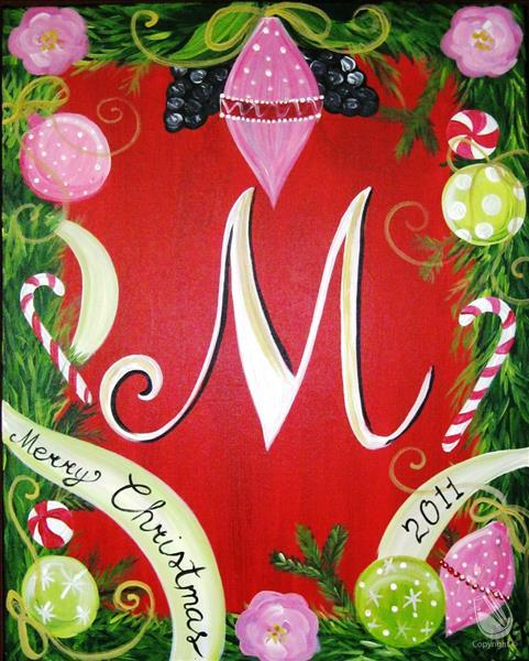 How to Paint Merry Christmas Monogram