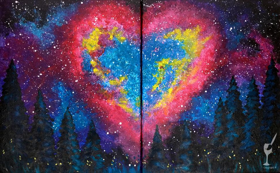 Heart Galaxy - Set or Individual