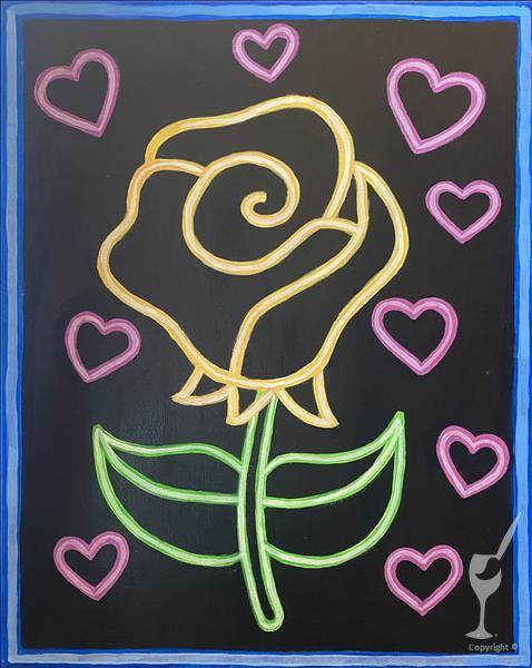 FAMILY FUN Neon Rose