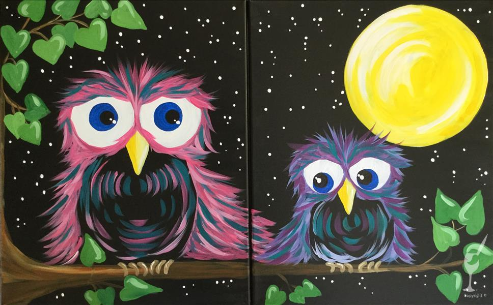 How to Paint IN STUDIO ~ MOM & ME ~ Owls Set