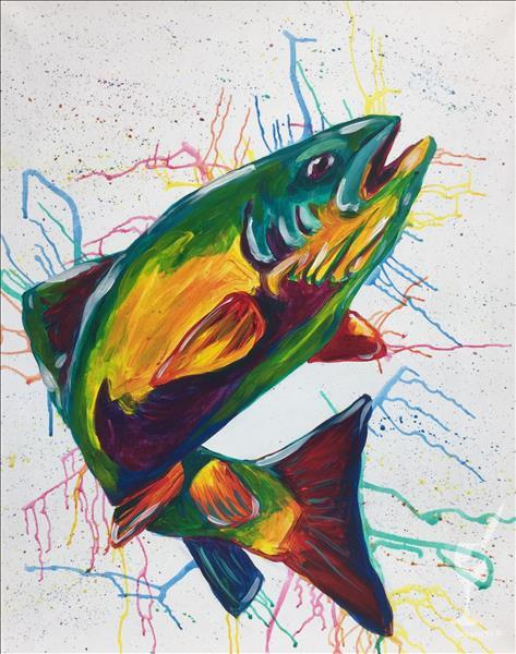 How to Paint Colorful & Wild - Fish *Open Studio*