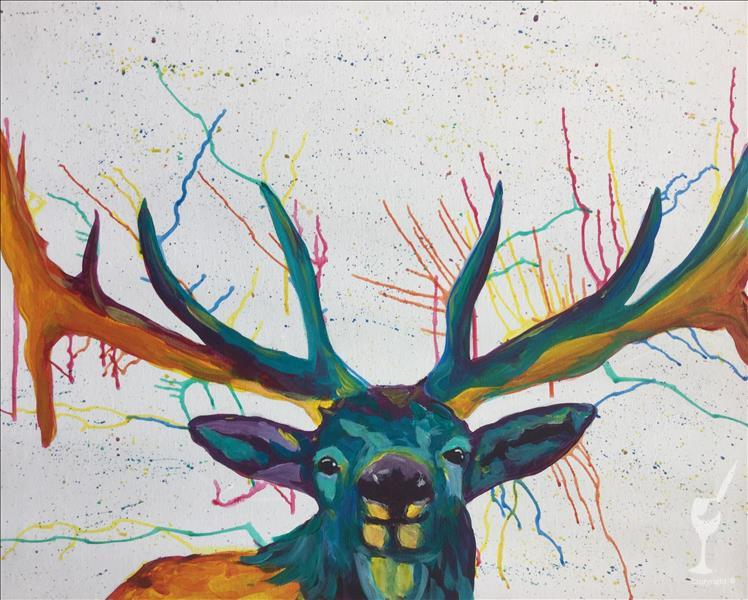 How to Paint Colorful & Wild - Deer *Open Studio*