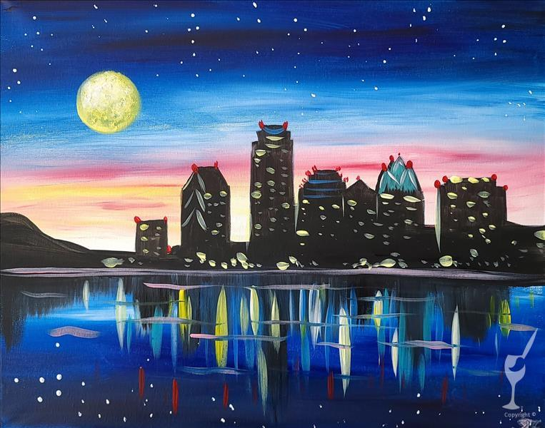 How to Paint Moonlit Austin - CANCELLED