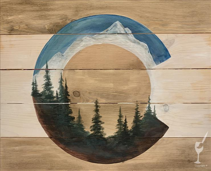 Colorado Treescape Real Wood Board