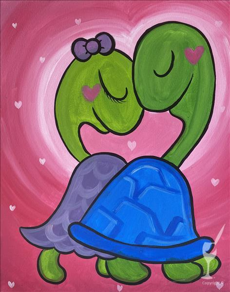 NEW ART!!  Turtley in Love!