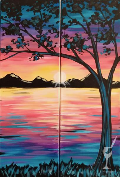 How to Paint Peaceful Paradise Set - DATE NIGHT