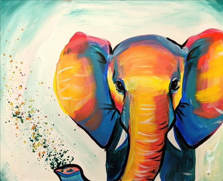 How to Paint NEW! Colorful Elephant