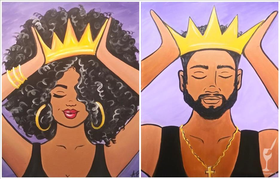 (COUPLES) Put on Your Crown *Buy 2 Canvases*