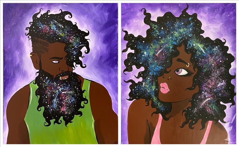 **Galactic Couple** Paint N Sip pARTy!!