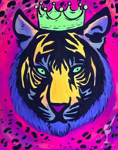 Kids Camp Tiger King and Queen BLACKLIGHT
