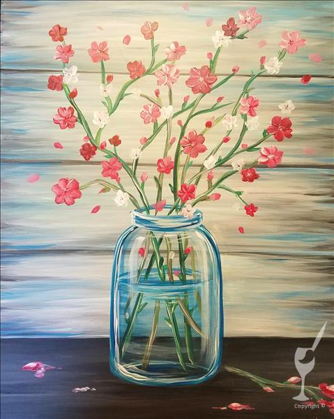 NEW ART ~ Flowering Cherry Blossoms in Jar