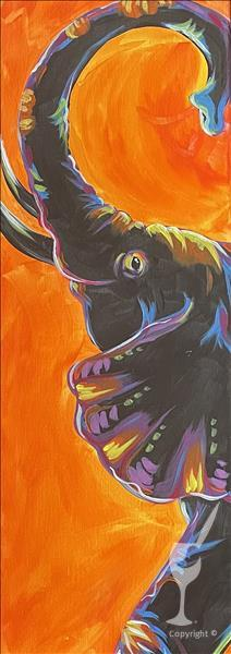 New Art! Neon Safari Elephant.