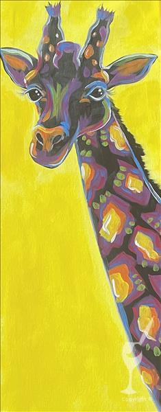 New Art! Neon Safari Giraffe