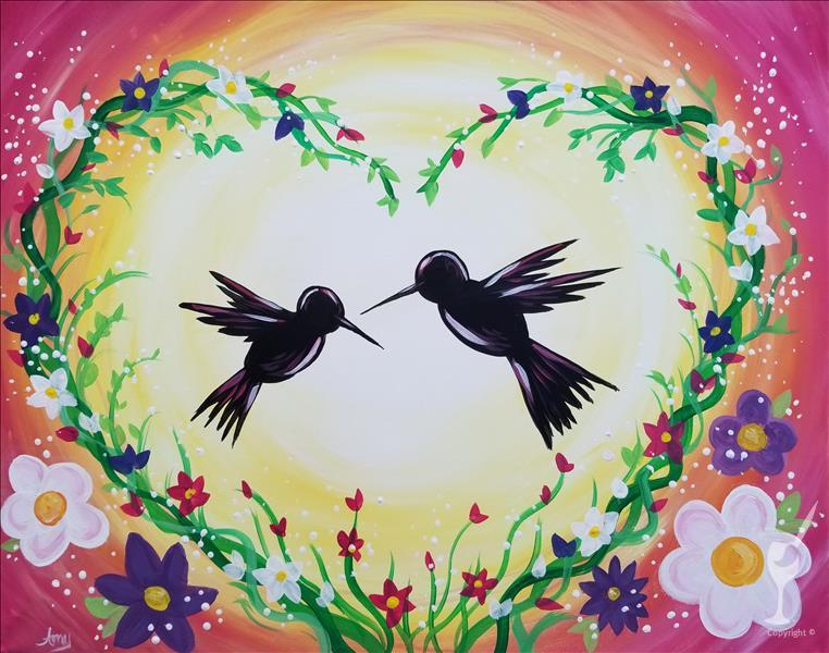 *PAINT WITH MOM* Hummingbird Love