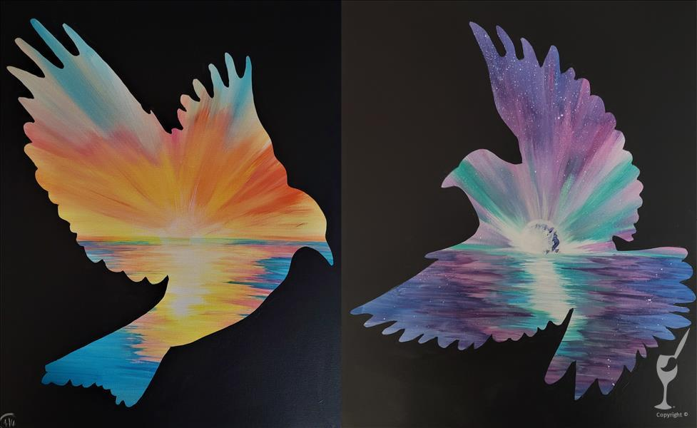 BRAND NEW! ~ Soaring Birds (Sunrise or Moonrise)