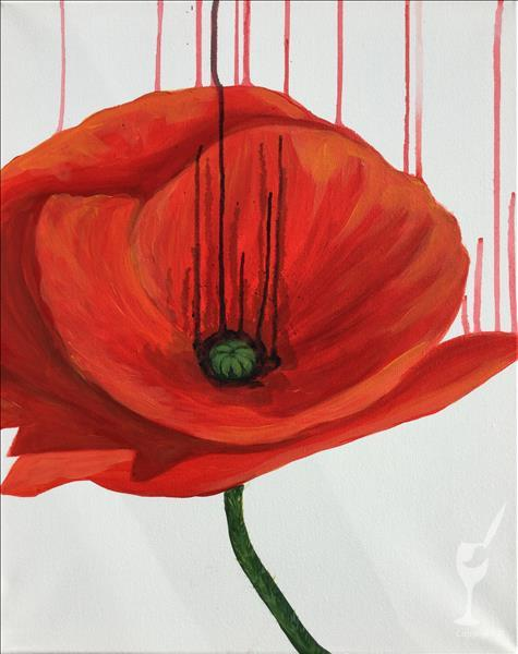 How to Paint Drippy Poppy