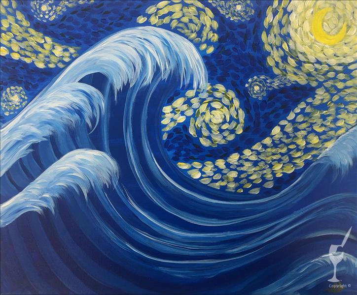Starry Night Great Wave