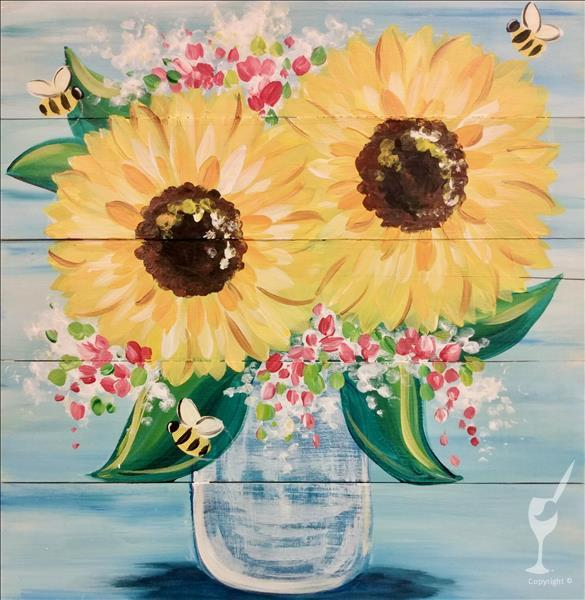 "NEW ART! ""Sunflower Buzz!""  Ages 12+ Welcome!"