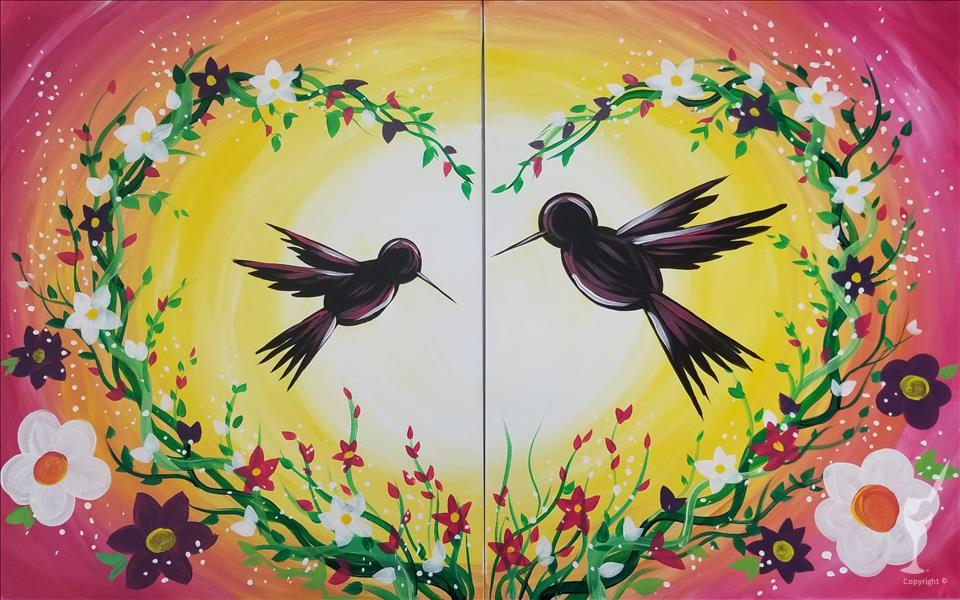 Hummingbird Love - Paint With MOM!