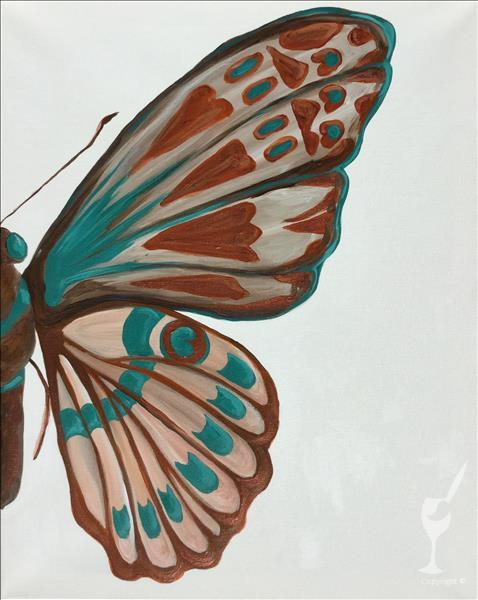 Copper and Teal Butterfly