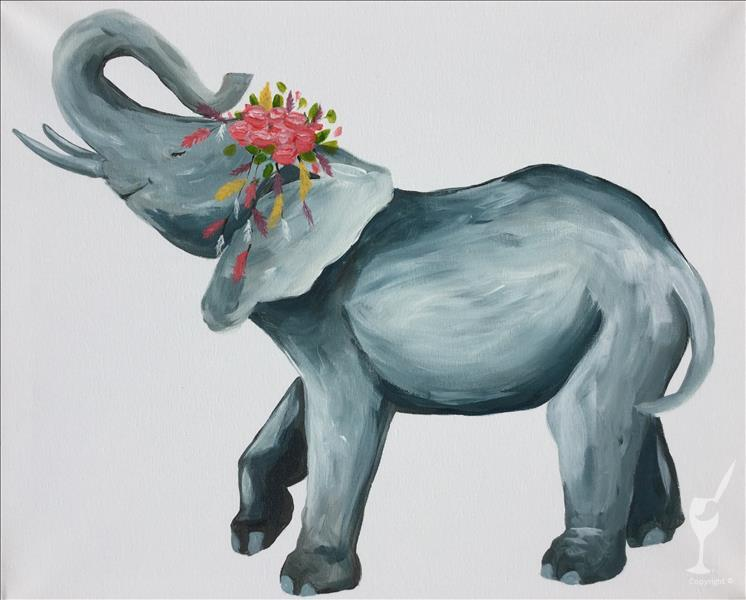New Art! Happy Go Lucky Elephant.