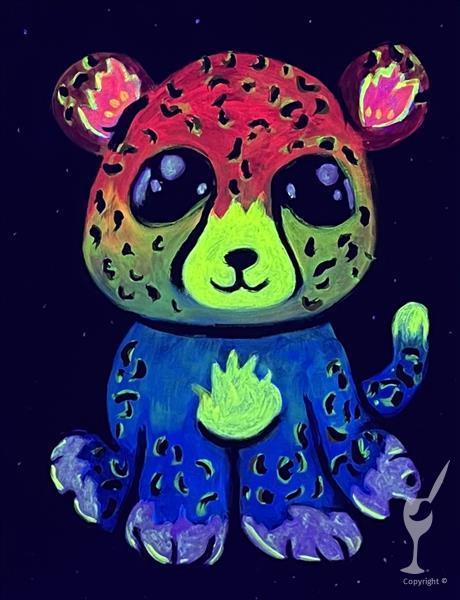 Charlie the Rainbow Cheetah BLACKLIGHT KIDS PARTY