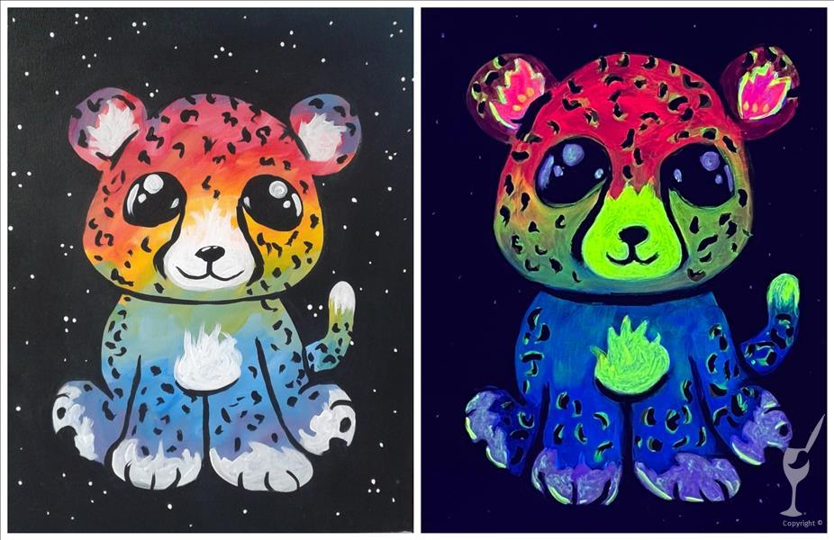 Kids Camp: Rainbow Cheetah-Black Light Room!