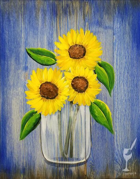 *NEW ART Bright Sunflowers