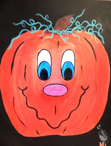How to Paint Happy Pumpkin- ALL AGES!