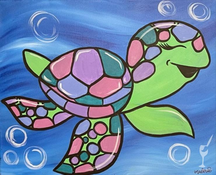 Mommy and Me Colorful Turtles - Side 1