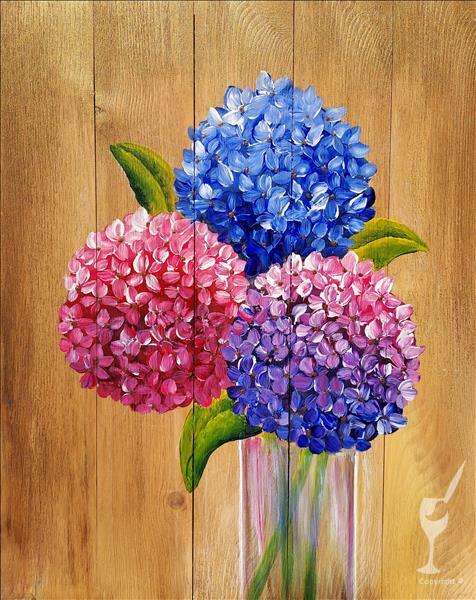 *Hydrangeas on Gold NEW Local Artist Original