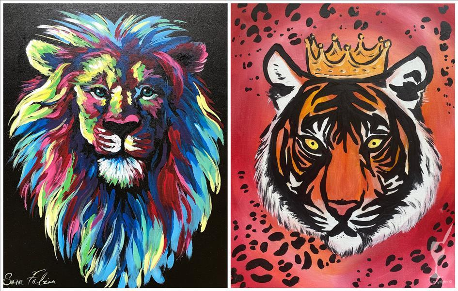 Date Night/Pick Side: Colorful Lion & Tiger Queen